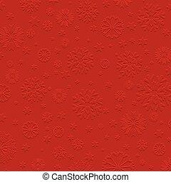 Embossed snowflake background