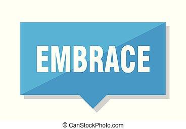 embrace price tag - embrace blue square price tag