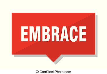 embrace red tag - embrace red square price tag
