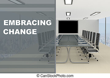 Embracing Change concept