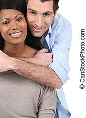 embracing pares, branco, fundo