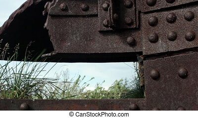 embrasure steel Citadel close to camera in motion