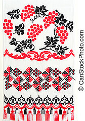 embroidered good by cross-stitch pattern. ukrainian ethnic...