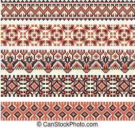 cross-stitch ethnic Ukraine pattern