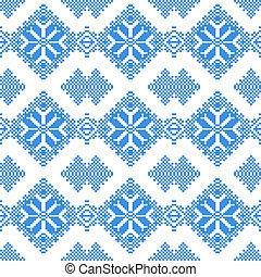 embroidered handmade cross-stitch ethnic pattern