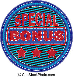 Embroidered sticker special bonus
