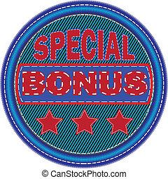 Embroidered sticker special bonus