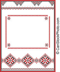 Embroidery abstract template frame for your