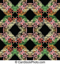 Embroidery Baroque vetor seamless pattern.