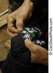 .Embroidery Black Dao