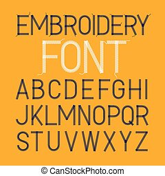 Embroidery font - Thin style embroidery font