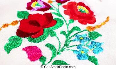 Embroidery handwork grandma's hobby