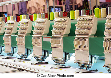 Embroidery machine - Textile: Industrial Embroidery Machine