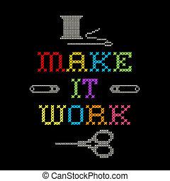 Embroidery, Make it Work Stitching