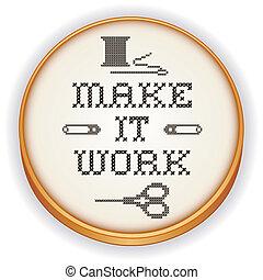 Embroidery, Make it Work, wood hoop