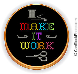 Embroidery, Make it Work, wood hoop