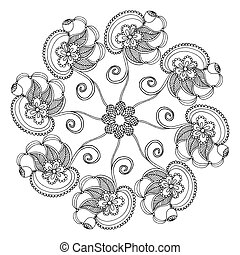 Embroidery pattern on white background