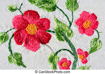 embroidery - turkish embroidery as background