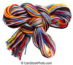 Embroidery Threads - Colorful bow made from embroidery...