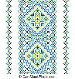 Embroidery. Ukrainian national ornament