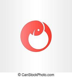 embryon, développement, symbole, rouges, bébé