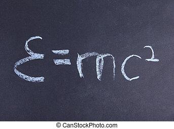 e=mc2., relativiteit, theorie