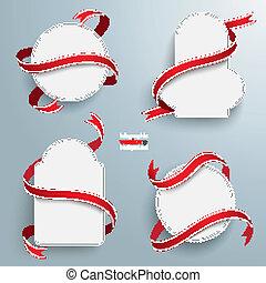 emeblems, bandery, 4, czerwony