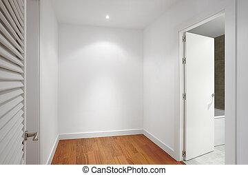 emelet, faház, közfal, folyosó, fehér