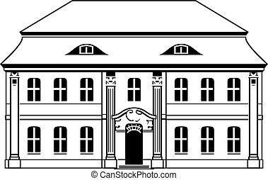 emelet, két, épület