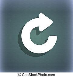 emelkedő, nyílvesszö icon, jelkép, képben látható, a, blue-green, elvont, háttér, noha, árnyék, és, hely, helyett, -e, text.