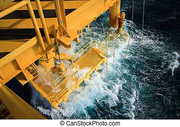 emelvény, gáz, olaj, öböl
