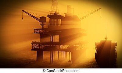 emelvény, olaj berendezés