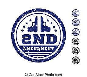 emenda, constituição, segundo, urso, selo, nós, arms., seal., ilustração, autorização