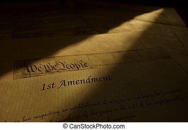 emenda, estados, unidas, constituição, primeiro