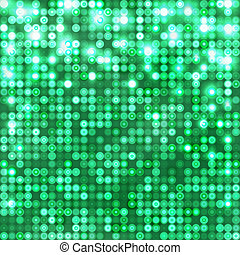 Emerald abstract sparkling background with circles