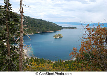 Emerald Bay on Lake Tahoe California