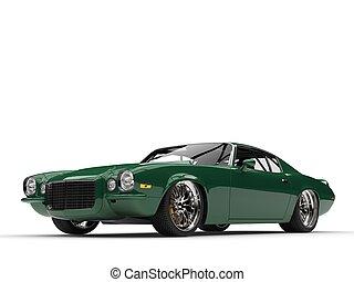 Emerald green classic vintage American car