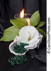 Emerald green crystals 1