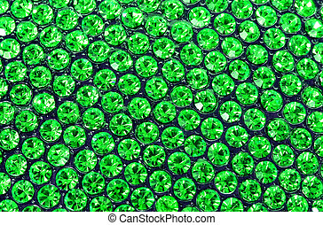 emerald green crystals background