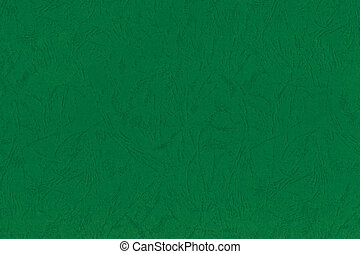 Emerald Green Embossed Art Paper Texture Retro Vintage Background, Natural Horizontal Rough Craft Sheet Textured Macro Closeup Pattern, Blank Empty Large Detailed Copy Space