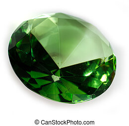 Emerald Green Faceted Gemstone