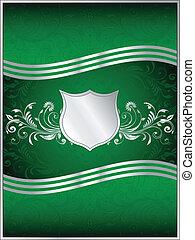 Emerald Green Vector Background Template
