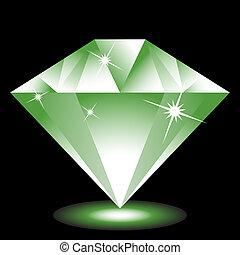 Emerald Jewel isolated on a black background image.