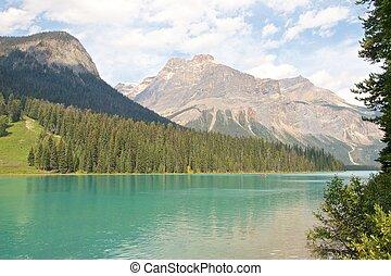 Emerald Lake and Canoe