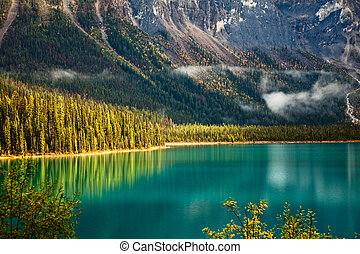Emerald Lake - Emerald lake. Yoho National park. Alberta....