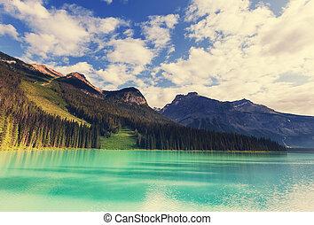 Emerald lake - Serenity Emerald Lake in the Yoho National...