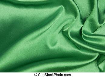 Emerald or green silk background