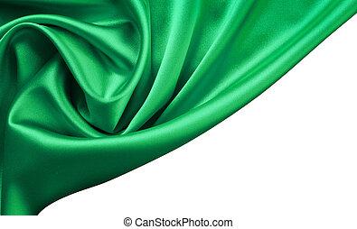 Emerald satin or silk background