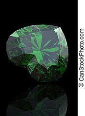 Emerald shape of heart