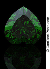 Emerald shape of heart